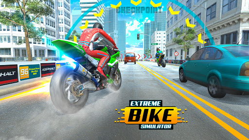 City Bike Driving Simulator-Real Motorcycle Driver android2mod screenshots 6