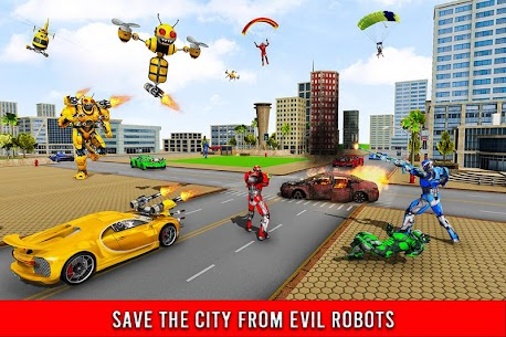 Bee Robot Car Transformation Game Mod Apk (Freeze Enemy) 8