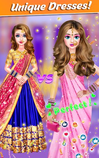 Indian Bride Stylist Dressup & Beauty Makeup Game screenshots 12