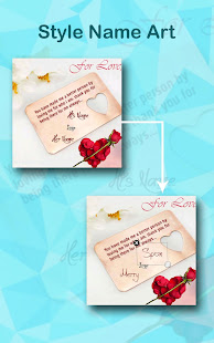 My Name Art: Text on Pictures