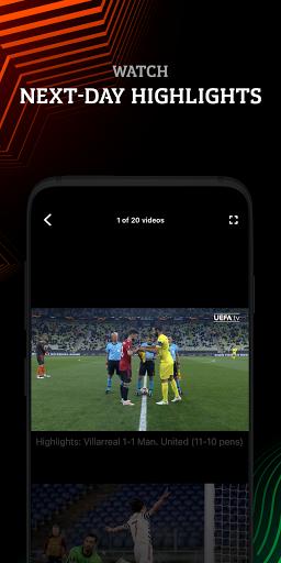 UEFA Europa Official: live football scores & news android2mod screenshots 4