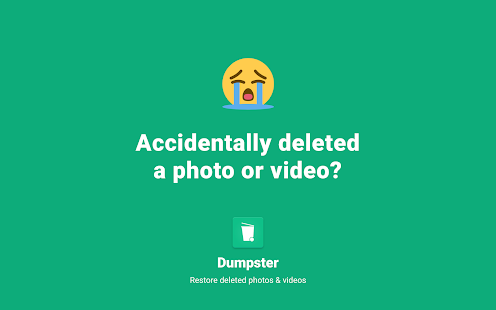 Dumpster Bin File Recovery. Restore Deleted Videos Screenshot
