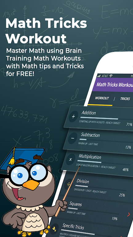 Math Tricks Workout - Math master - Brain training – Apps on Google Play poster 0
