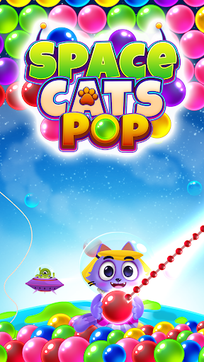 Space Cats Pop - Kitty Bubble Pop Games apkmr screenshots 2