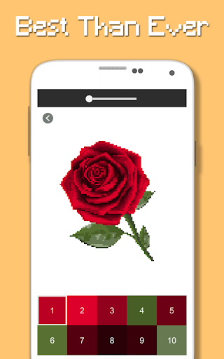 rose flowers coloring book, color by number pixel screenshot 3