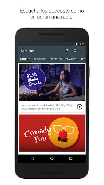 Captura 2 de Spreaker Podcast Player - Escucha podcasts gratis para android