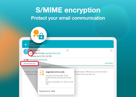Email Aqua Mail - Exchange, SMIME, Smart inbox Screenshot