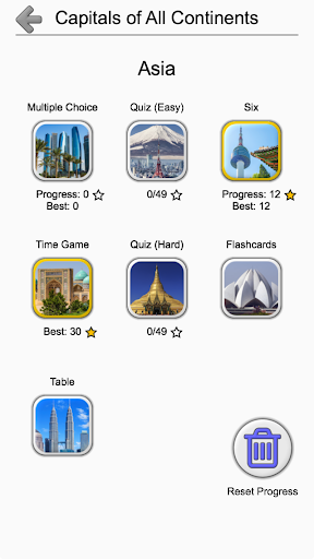 Capital Cities of World Continents: Geography Quiz 1.2 screenshots 15