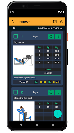 TopWorkout routine and workout sheet android2mod screenshots 3