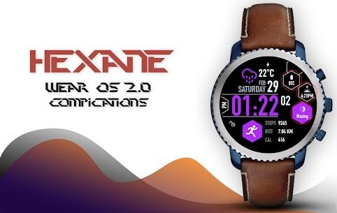 Hexane Watch Face and Clock Live Wallpaper 4