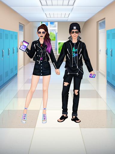 High School Couple: Girl & Boy Makeover 1.7 Screenshots 21