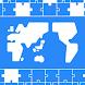 世界地図パズル-国名・首都・国旗