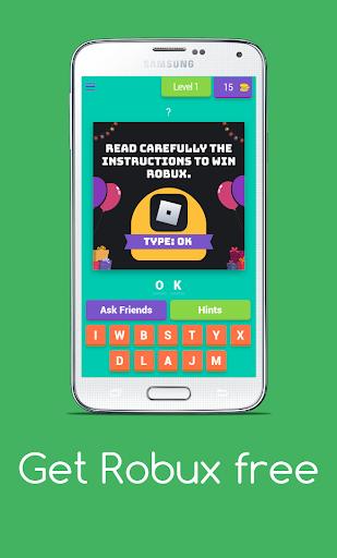 Get Robux Free - Quiz 2021  screenshots 1