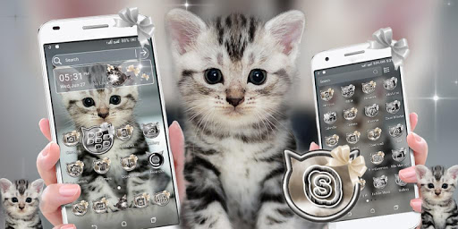 Cute Cat Launcher Theme modavailable screenshots 1