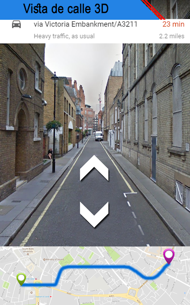 Captura de Pantalla 2 de vivir tierra calle ver mapa & ruta navegación para android