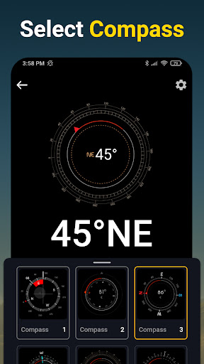 Compass - Accurate & Digital Compass for Android apktram screenshots 3