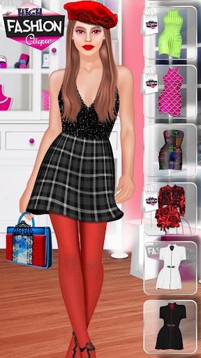 High Fashion Clique - Dress up & Makeup Game  screenshots 6