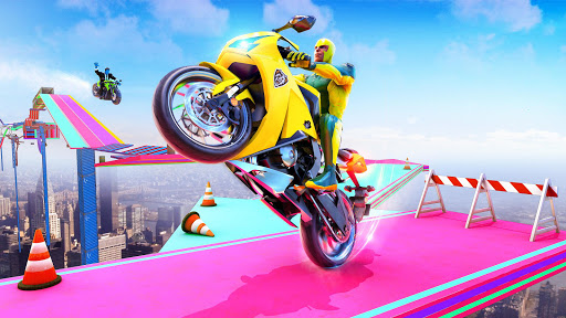 Superhero Bike Stunt GT Racing - Mega Ramp Games 1.15 screenshots 12