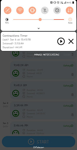 Contraction Timer for labor(Checker/Tracker) apktram screenshots 4