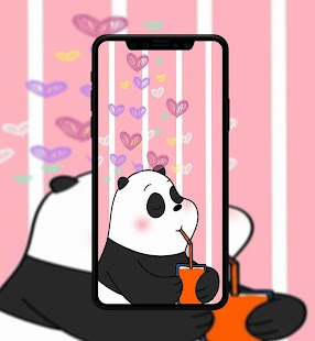 Cute Bear Cartoon Wallpaper Screenshot