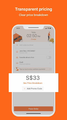 Lalamove - 24/7 On-Demand Delivery App 103.5.1 Screenshots 5