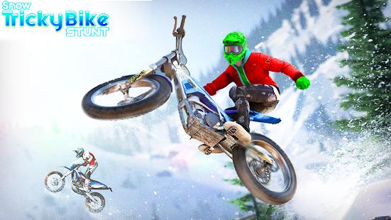 Snow Tricky Bike Impossible Track Stunts 2021 1.6 Screenshots 9
