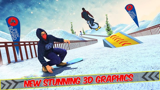 Snowboard Downhill Ski: Skater Boy 3D 8