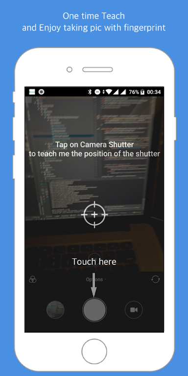 Fingerprint Camera shutter poster 0