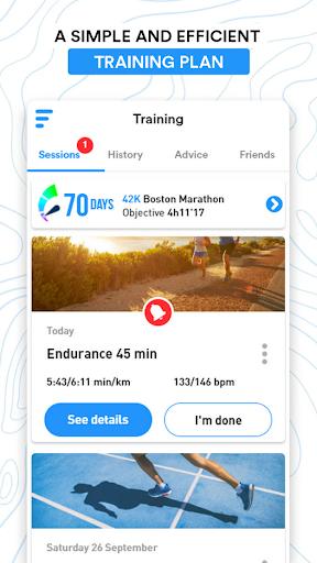 frequence running - training screenshot 2
