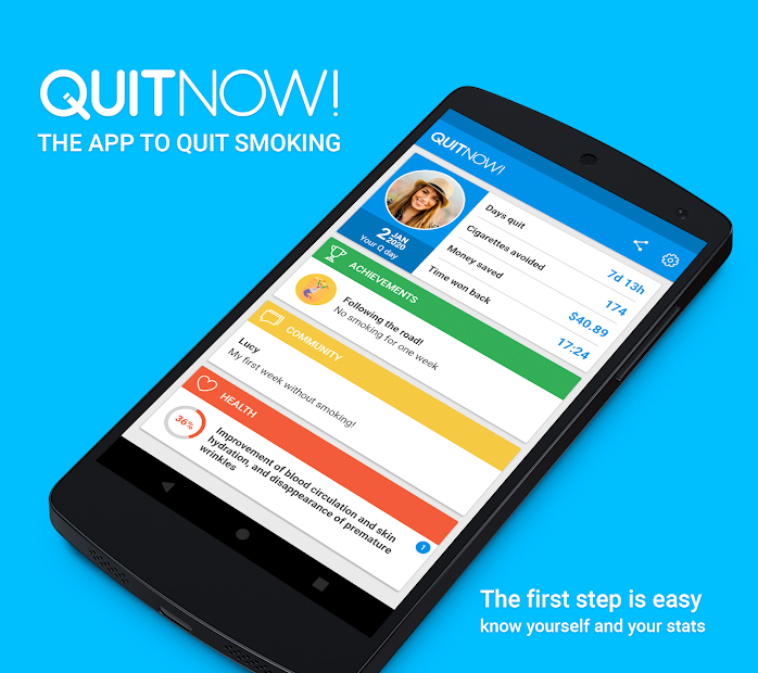 QuitNow! Quit smoking Android App Screenshot