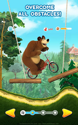 Masha and the Bear: Climb Racing and Car Games apkslow screenshots 23