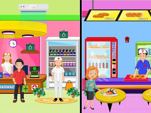Télécharger Faire semblant à l'hôpital de la ville: jeu de la apk mod screenshots 2