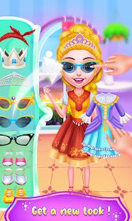 Princess Girl At Hair Beauty Salon