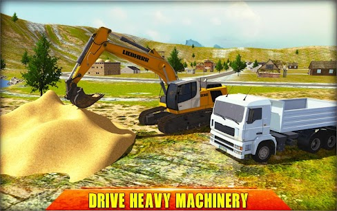 Heavy Excavator Crane Simulator 2018 1.2.3 Mod + Data for Android 3