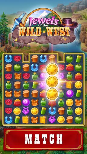 Jewels of the Wild Westu30fbMatch 3 Gems. Puzzle game apktram screenshots 1