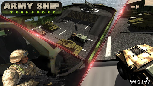 US Army Transport Tank Cruise Ship Helicopter Game apkmartins screenshots 1