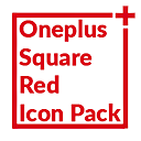 Square Red Icon Pack Oneplus Style