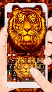 Flaming Tiger Keyboard Theme 1.0 Mod APK [Unlocked] 1