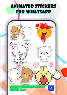 Animated 2021 milk and mocha Stickers For Whatsapp  APK + Мод (Unlimited money) за Android