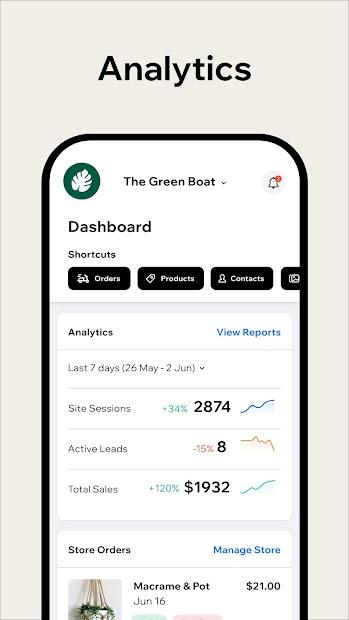 Screenshot 8 de Wix Owner: crea sitios, tiendas online o blogs para android