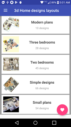 3d Home designs layouts 9.7 Screenshots 1