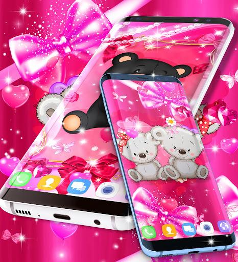Teddy bear love hearts live wallpaper android2mod screenshots 6