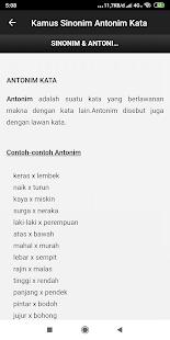 Kamus Sinonim dan Antonim Kata Offline 3.1 screenshots 1