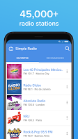 screenshot of Simple Radio – Free Live AM FM Radio & Music App
