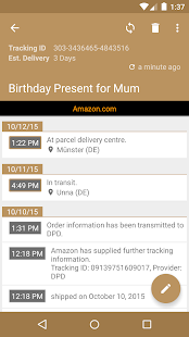 Deliveries Package Tracker Screenshot