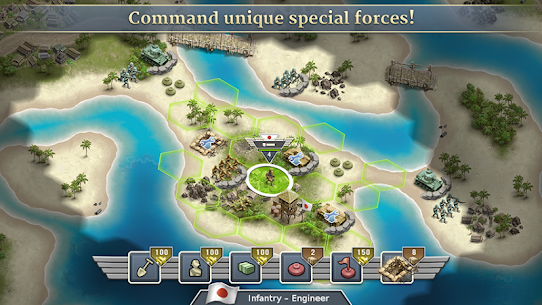 1942 Pacific Front – a WW2 Strategy Mod Apk (Unlimited Gold Coins) 4