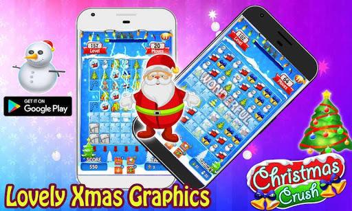christmas crush 2020 - free xmas & santa games screenshot 3