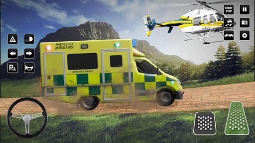 Heli Ambulance Simulator 2020: 3D Flying car games  screenshots 5