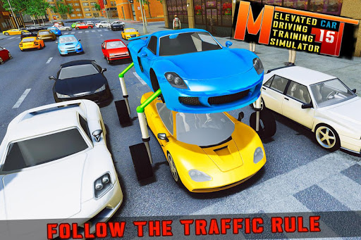Elevated Car Racing Speed Driving Parking Game  screenshots 6