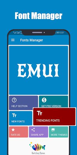 Fonts for Huawei Emui 4.4 Screenshots 1